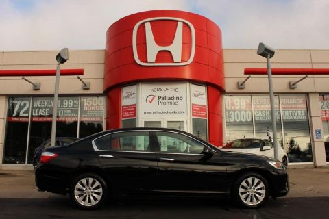 Pre-Owned 2013 Honda Accord Sedan EX-L- LEATHER+ HEATED SEATS+ BLUETOOTH+ SUNROOF FWD 4dr Car