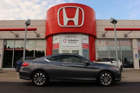 Pre-Owned 2014 Honda Accord Coupe EX-L w/Navi- LEATHER+ HEATED SEATS+ BACKUP CAM & MORE! With Navigation