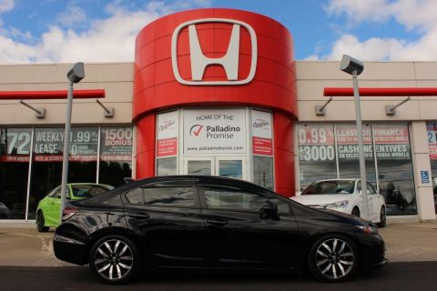 Pre-Owned 2013 Honda Civic Sedan Touring- LEATHER+ HEATED SEATS+ BACK UP CAM & MORE! With Navigation