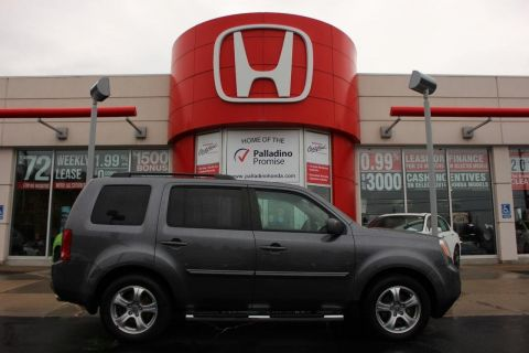 Pre-Owned 2015 Honda Pilot EX-L-8 PASSENGER+ DVD SYSTEM+ LEATHER+ HEATED SEATS & MORE! 4WD